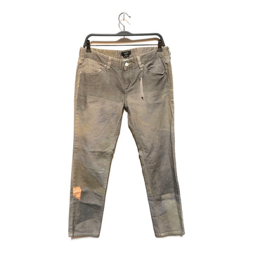 ISABEL MARANT/GRAY BLEACH PANTS/Straight Pants/42/GRY/Cotton/Plain
