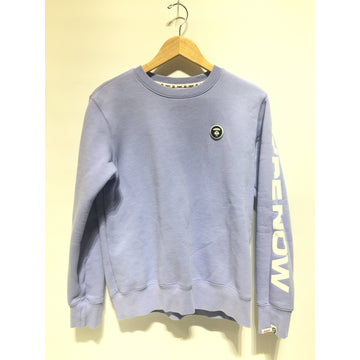 AAPE BY A BATHING APE/L/Sweatshirt/PPL/Cotton/Plain