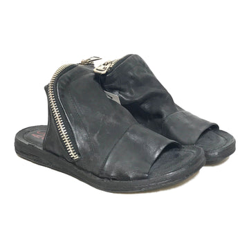 A.S.98/Sandals/US7/BLK/Leather/Plain