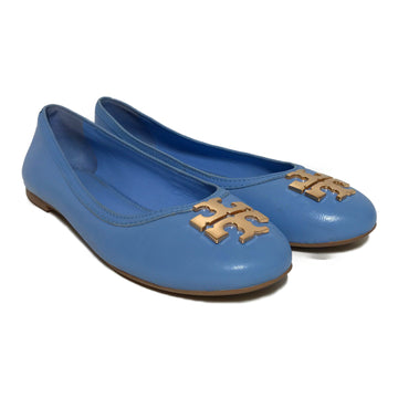TORY BURCH/BB BLUE FLATS/Flat Shoes/./BLU/Leather/Plain