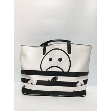 MARC BY MARC JACOBS//Tote Bag/WHT/Faux Leather/Graphic