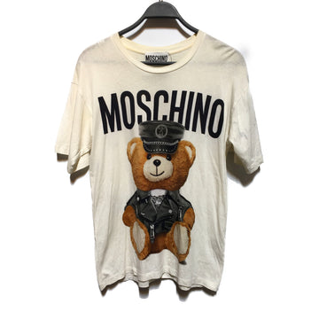 MOSCHINO//T-Shirt/2/WHT/Cotton/Graphic