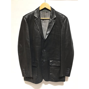 BEAMS/46/Leather Jkt/BLK/Leather/Plain