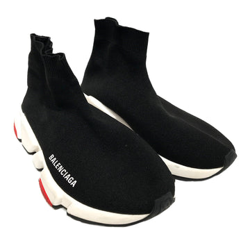 BALENCIAGA//Hi-Sneakers/US9/BLK/Cotton/Plain