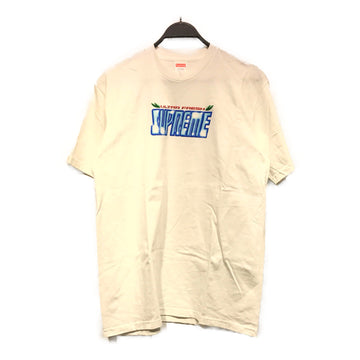 Supreme//T-Shirt/M/WHT/Cotton/Plain