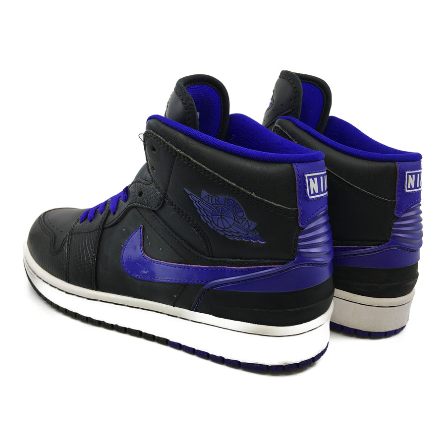 NIKE/AIR JORDAN 1 RETRO '86/Hi-Sneakers/9/PPL/Leather/Plain