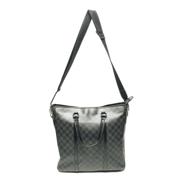 LOUIS VUITTON/DAMIER /Cross Body Bag//BLK/Leather/All Over Print