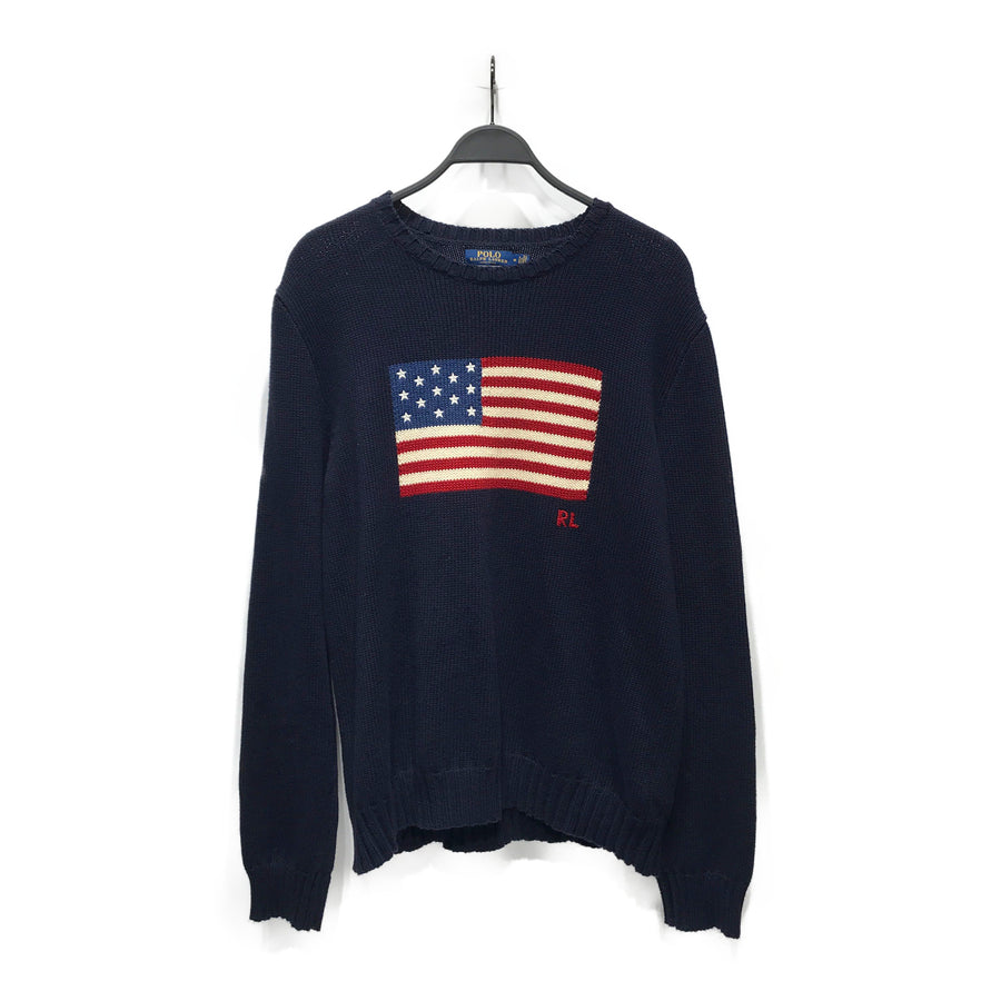 POLORALPH LAUREN//Sweater/M/NVY/Others/Plain