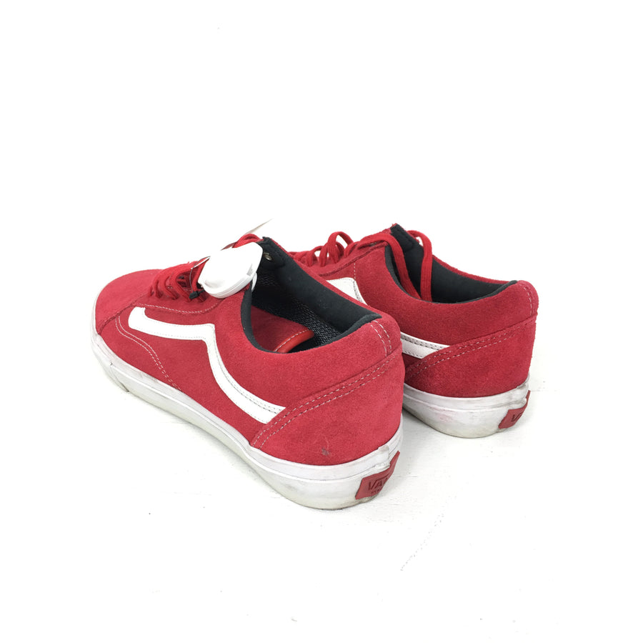 VANS/9.5/Low-Sneakers/RED/Leather/Stripe