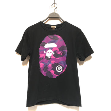 BAPE/S/T-Shirt/BLK/Cotton/Plain