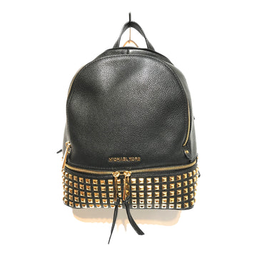 MICHAEL KORS/STUDDED/Backpack//BLK/Faux Leather/Plain