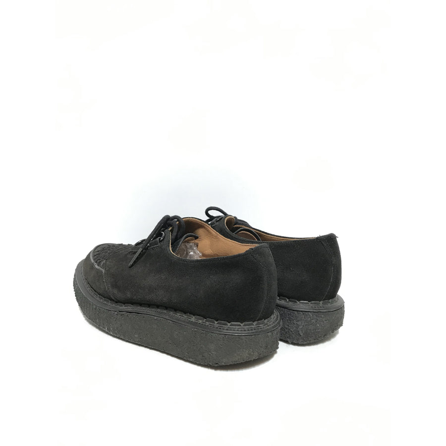 GEORGE COX/Dress Shoes/UK8/BLK/Suede