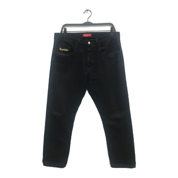 Supreme//Straight Pants/34/BLK/Cotton/Plain