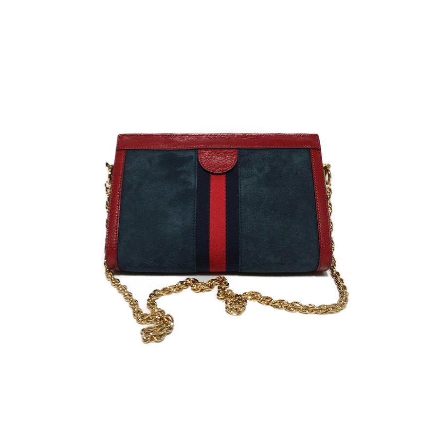 GUCCI/CLUTCH/Clutch Bag//NVY/Suede/Plain