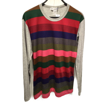 COMME des GARCONS SHIRT//LS T-Shirt/XL/GRY/Cotton/Stripe