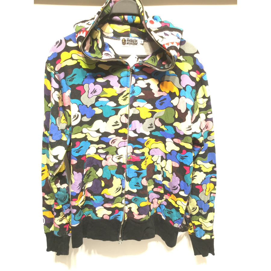 BAPE/XL/Zip Up Hoodie/MLT/Cotton/All Over Print