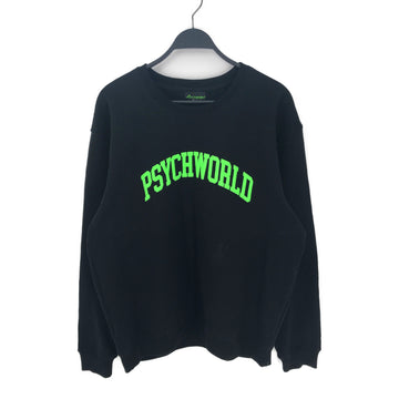 PSYCHWORLD//Sweatshirt/L/BLK/Cotton/Graphic