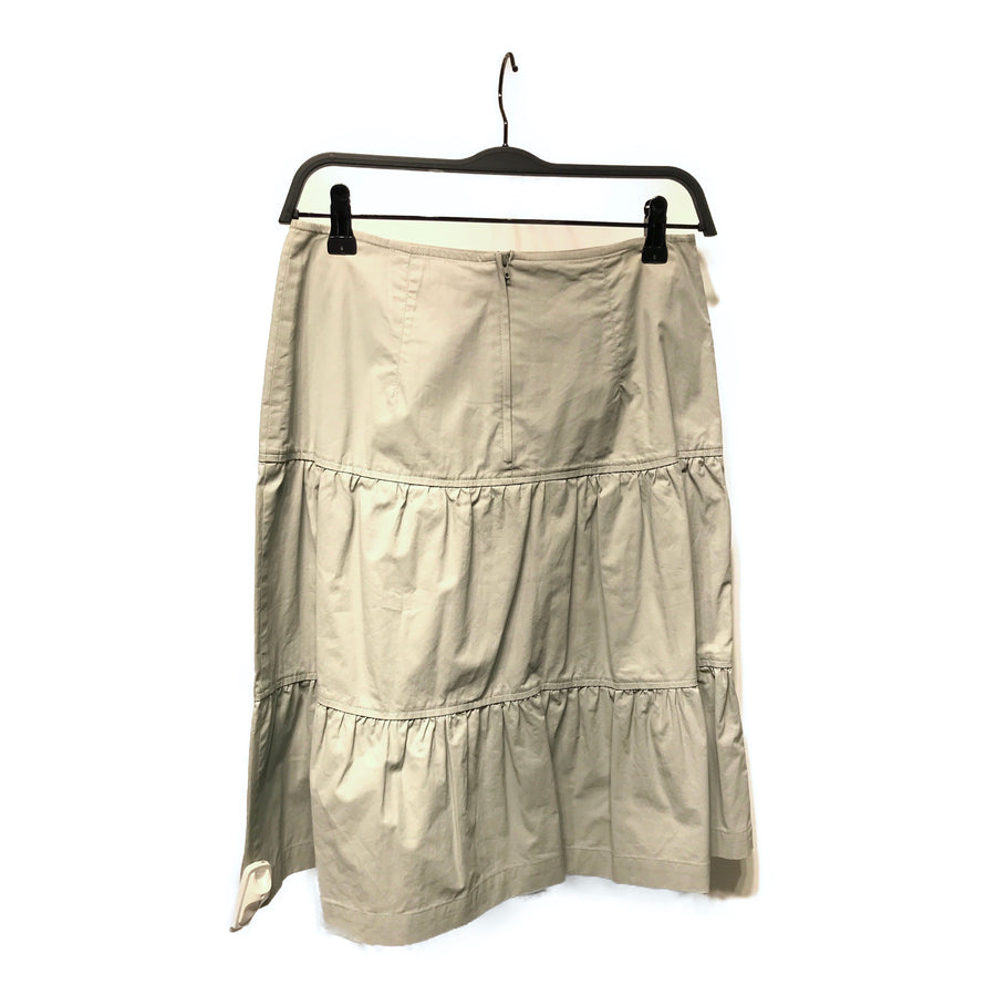 SPORT MAX by Max Mara//Long Skirt/USA4/GRY/Cotton/Plain