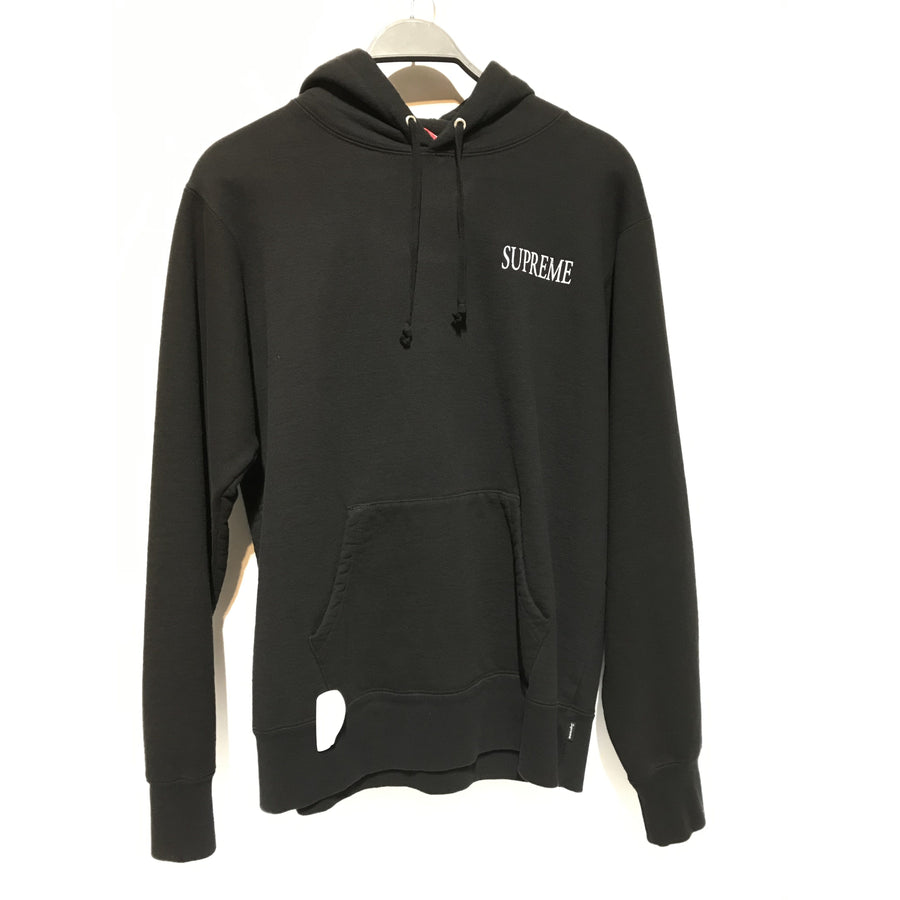 Supreme/Hoodie/M/Cotton/BLK/17AW/Decline Hooded Sweatshirt