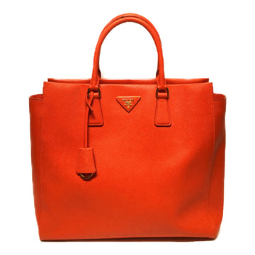 PRADA/GALLERIA TOTE/Hand Bag//RED/Leather/Plain