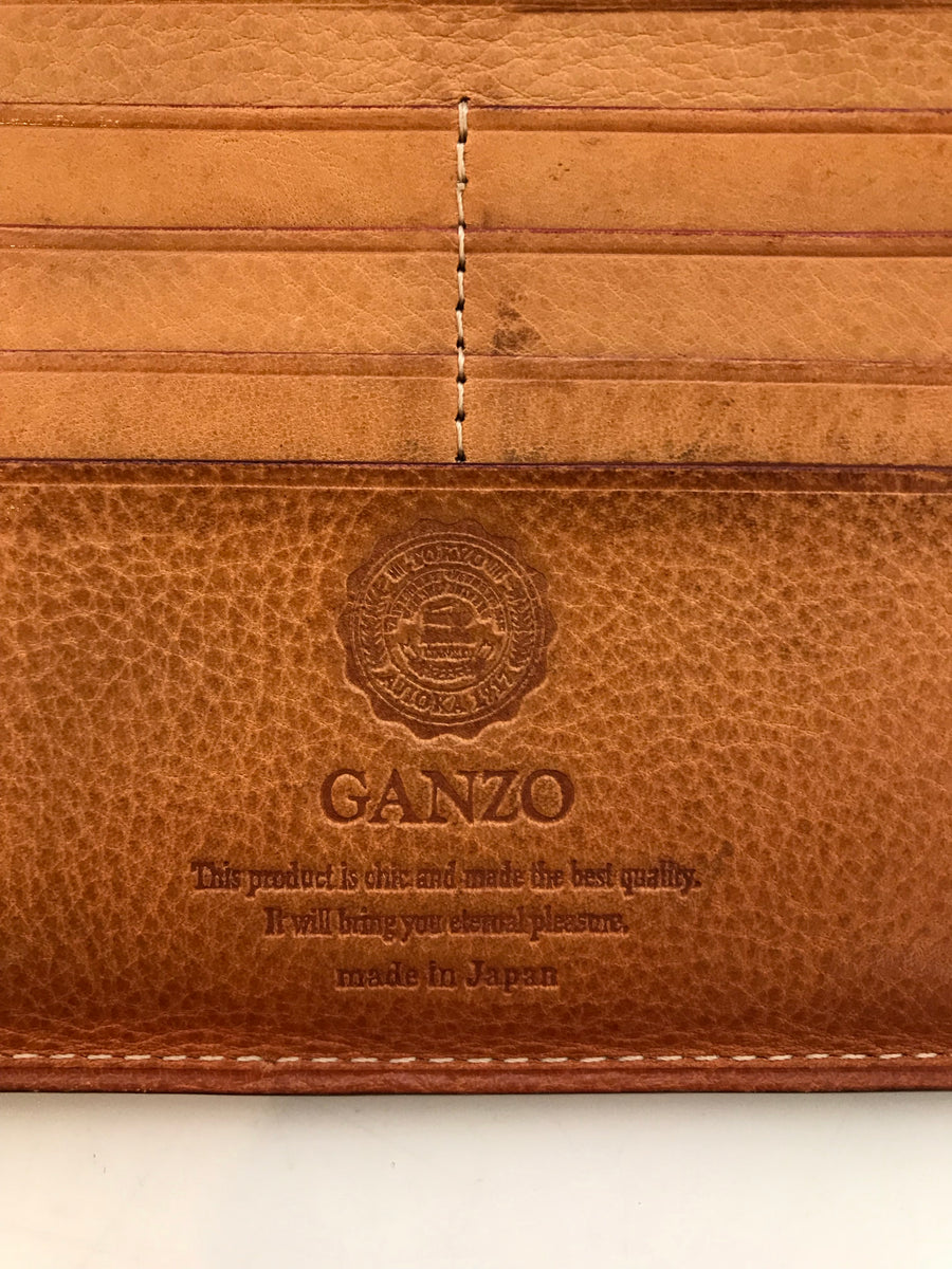 GANZO/Long Wallet/BLK/Cow hide