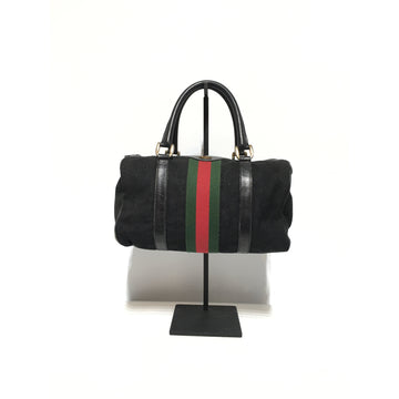 GUCCI//Hand Bag/BLK/Others/Stripe