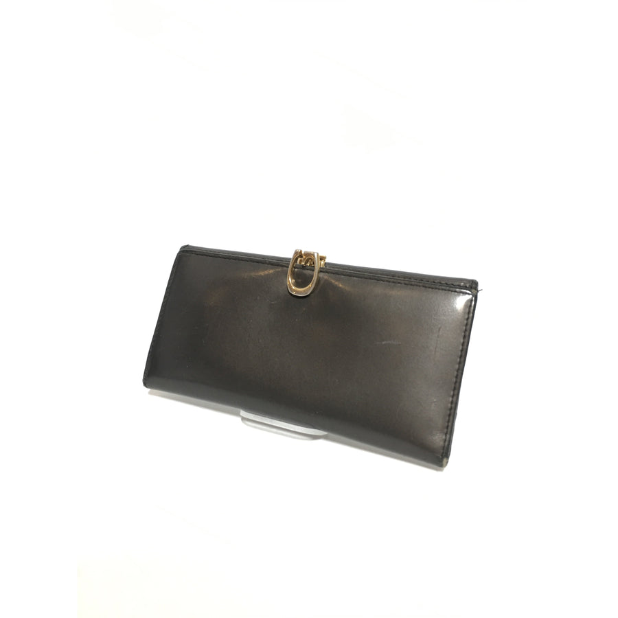 GUCCI/Long Wallet/Leather/GRY