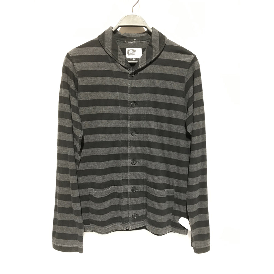 Engineered Garments/Cardigan/M/Cotton/BLK/Stripes