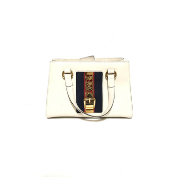 GUCCI//Hand Bag/WHT/Leather/Plain
