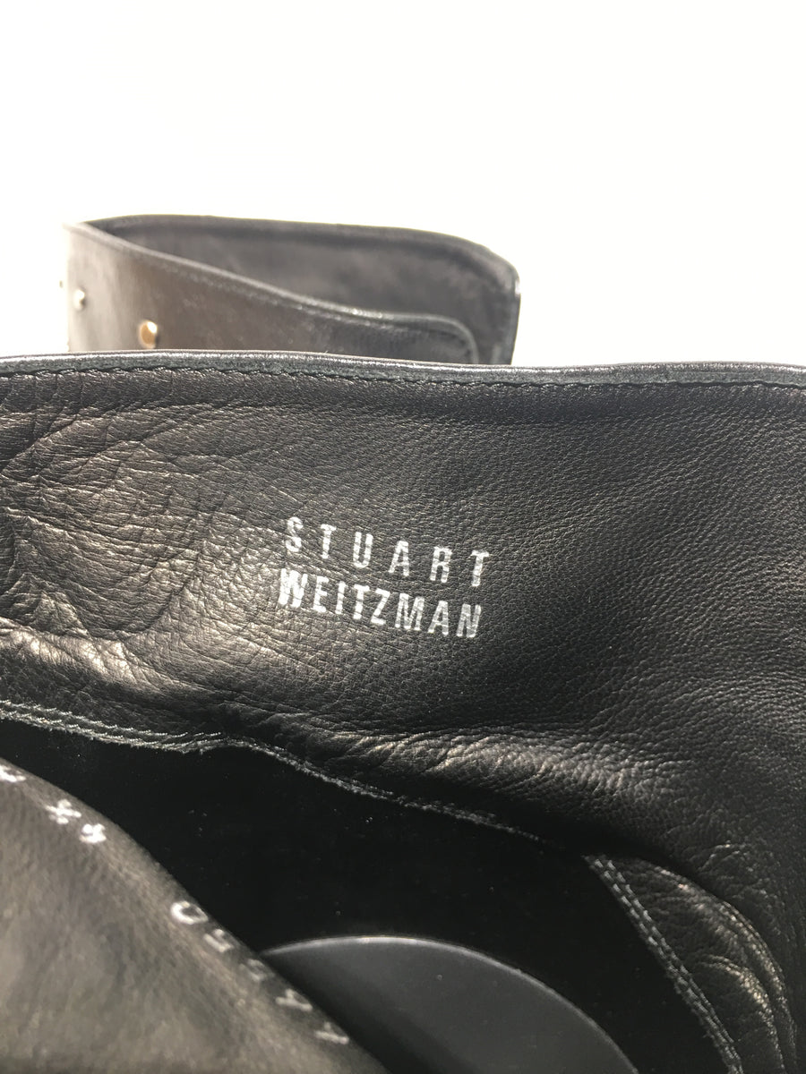 STUART WEITZMAN/US4.5/Long Boots/BLK/Leather/Plain