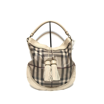 BURBERRY/TASSEL/Tote Bag/GRY/Others/Plaid