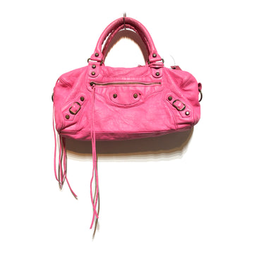 BALENCIAGA/PINK LEATHER /Bag/./PNK/Leather/Plain