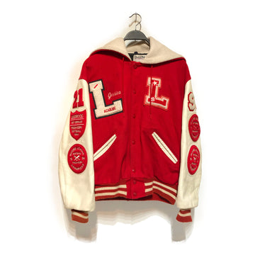 Vintage/VARSITY/Jacket/L/RED/Wool/All Over Print