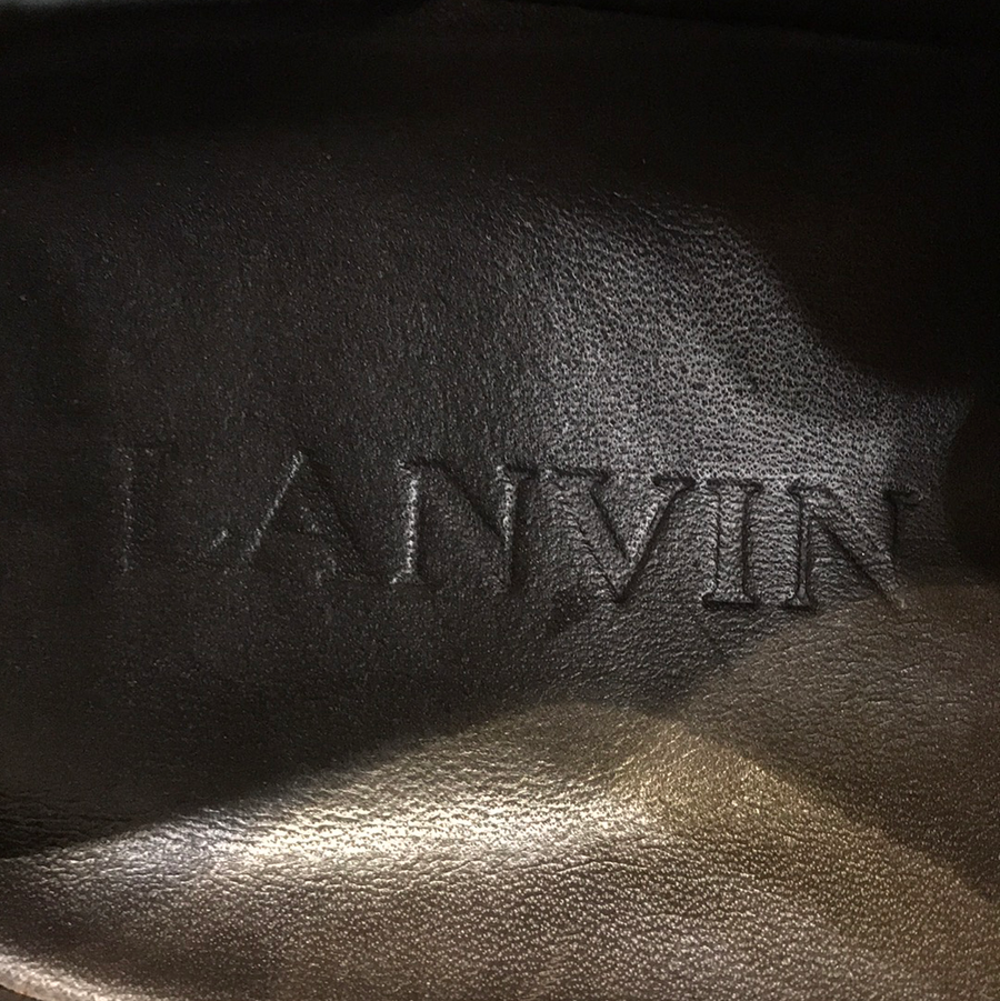 LANVIN//Low-Sneakers/8/GRY/Others/Plain