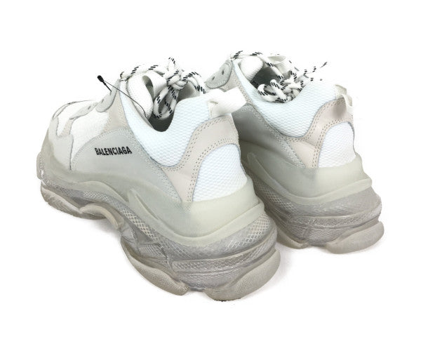 BALENCIAGA/9/Low-Sneakers/WHT/Others/Plain