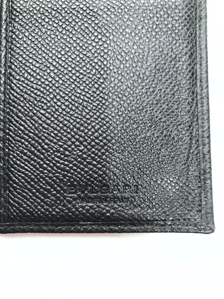 BVLGARI/Bifold Wallet/Leather/BLK