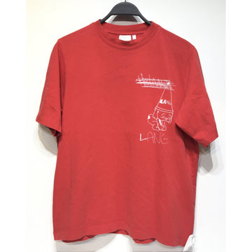 Helmut Lang/M/T-Shirt/RED/Cotton/Plain