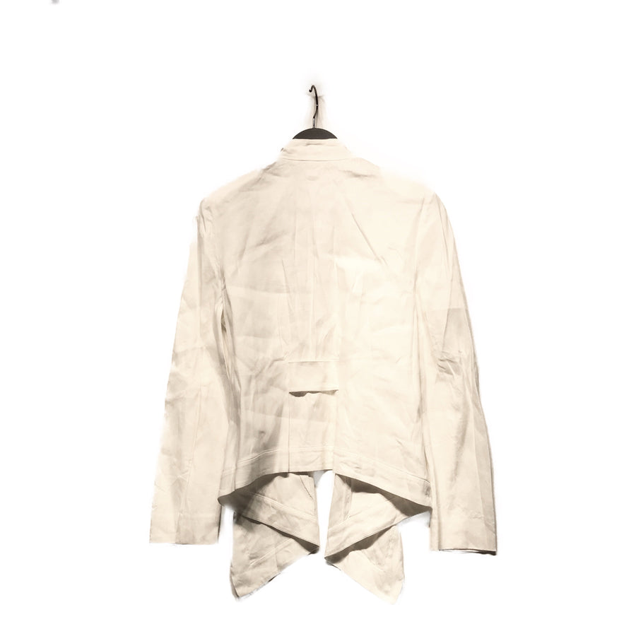 DIANE von FURSTENBERG//Tailored Jkt/6/WHT/Cotton/Plain