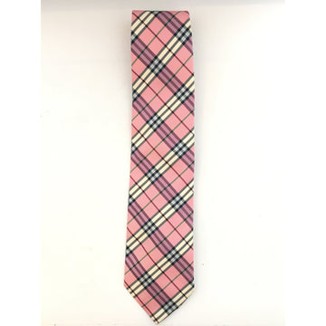 BURBERRY LONDON//Tie/PNK/Polyester/Plaid
