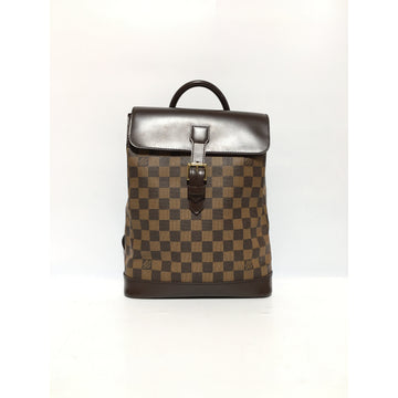 LOUIS VUITTON/DAMIER EBENE SOHO/Backpack/BRW/Leather/Plaid