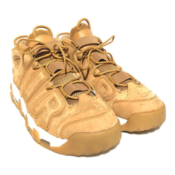 NIKE/AIR MORE UPTEMPO PREMIUM 'WHEAT'/Hi-Sneakers/US13/BEG/Leather/Plain