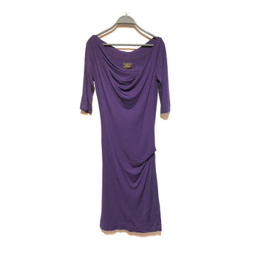 VIVIENNE WESTWOOD//Tunic Dress/S/PPL/Cotton/Plain