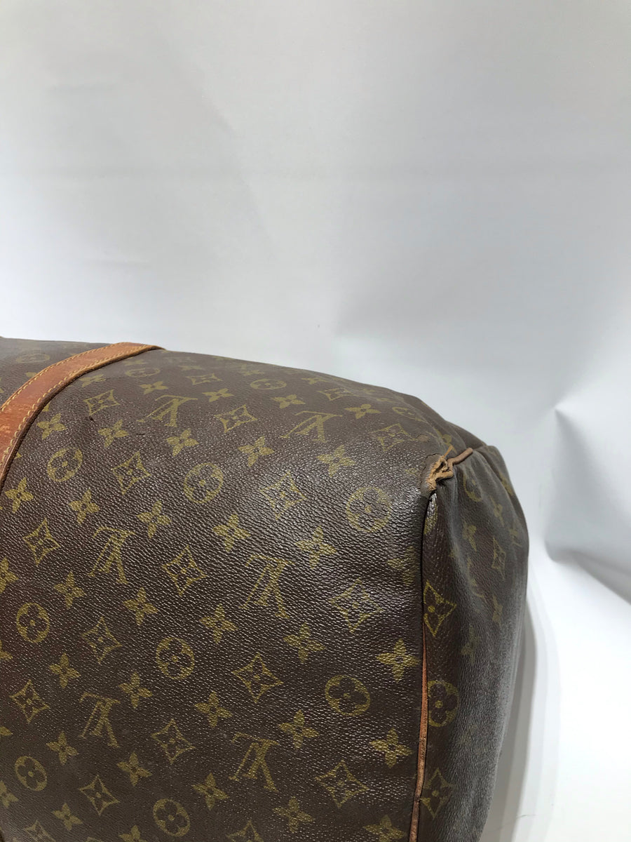 LOUIS VUITTON/Keepall band Villiers 60_ Monogram Canvas/PVC/BRW/All Over Print