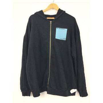 KOMAKINO/XL/Zip Up Hoodie/BLK/Cotton/Graphic