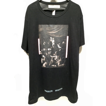 OFF-WHITE/L/T-Shirt/BLK/Cotton/Graphic