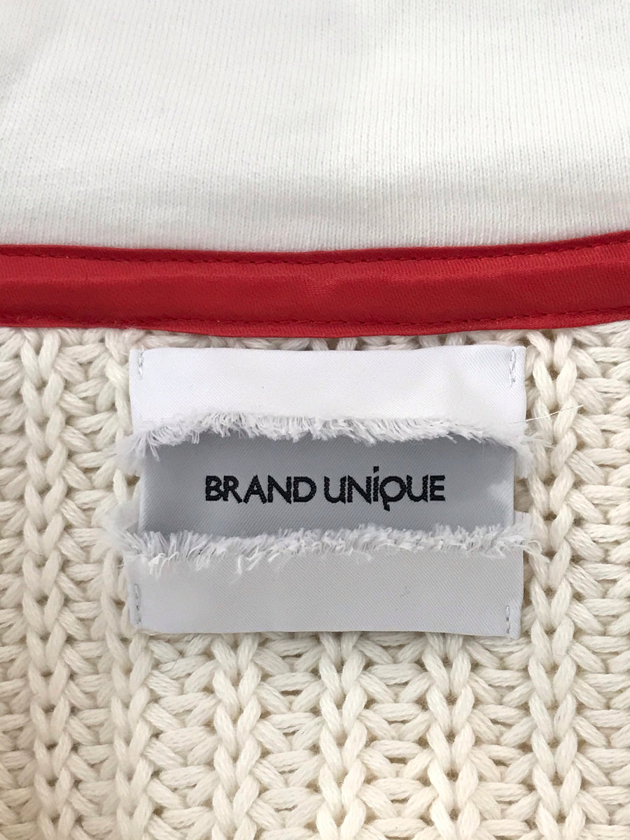 BRAND UNIQUE/Hoodie/0/WHT/Cotton/Plain