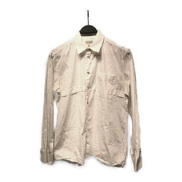 Dries Van Noten//LS Shirt/48/WHT/Cotton/Plain