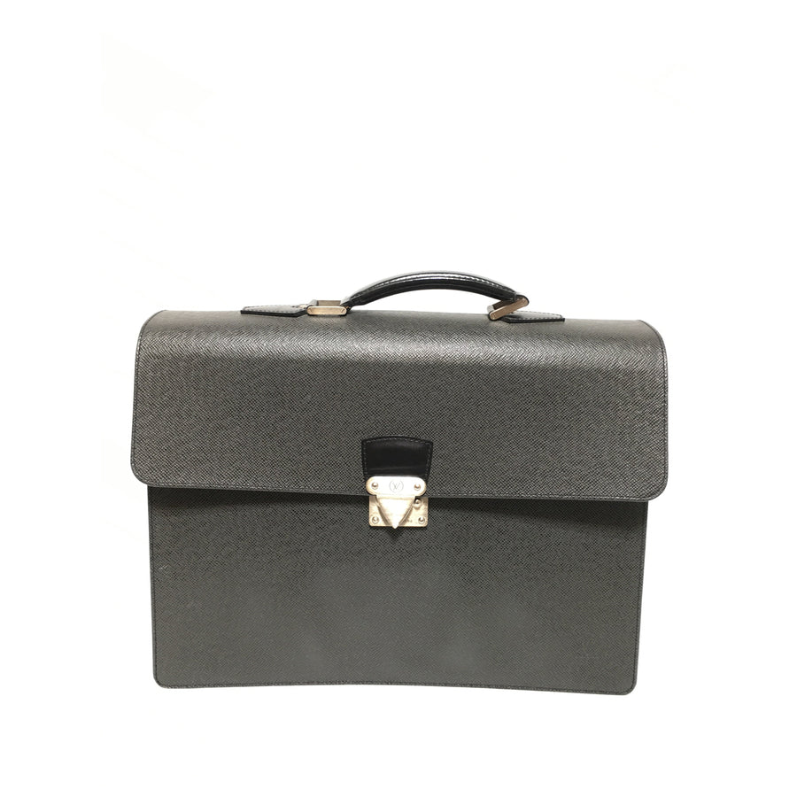 LOUIS VUITTON/BLK/Leather/Briefcase