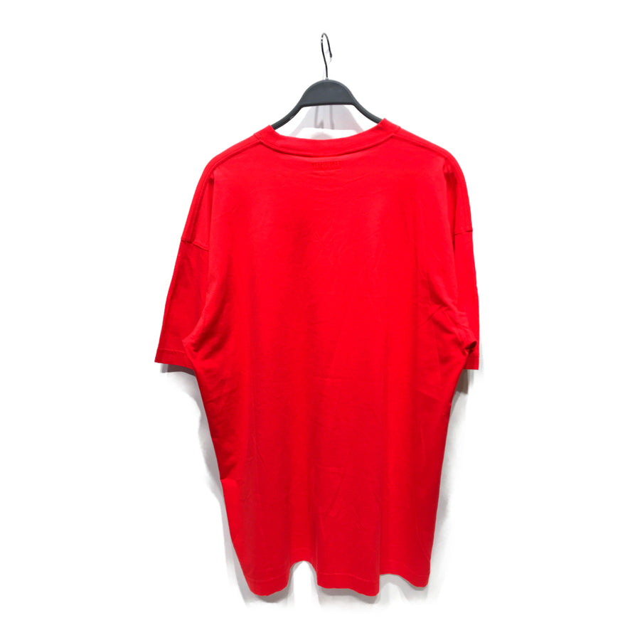 VETEMENTS//T-Shirt/S/RED/Cotton/Plain