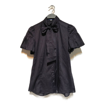 BURBERRY BLUE LABEL//SS Blouse/36/NVY/Cotton/Plain